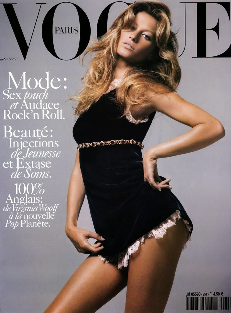 first cover in vogue paris by mario sorrenti