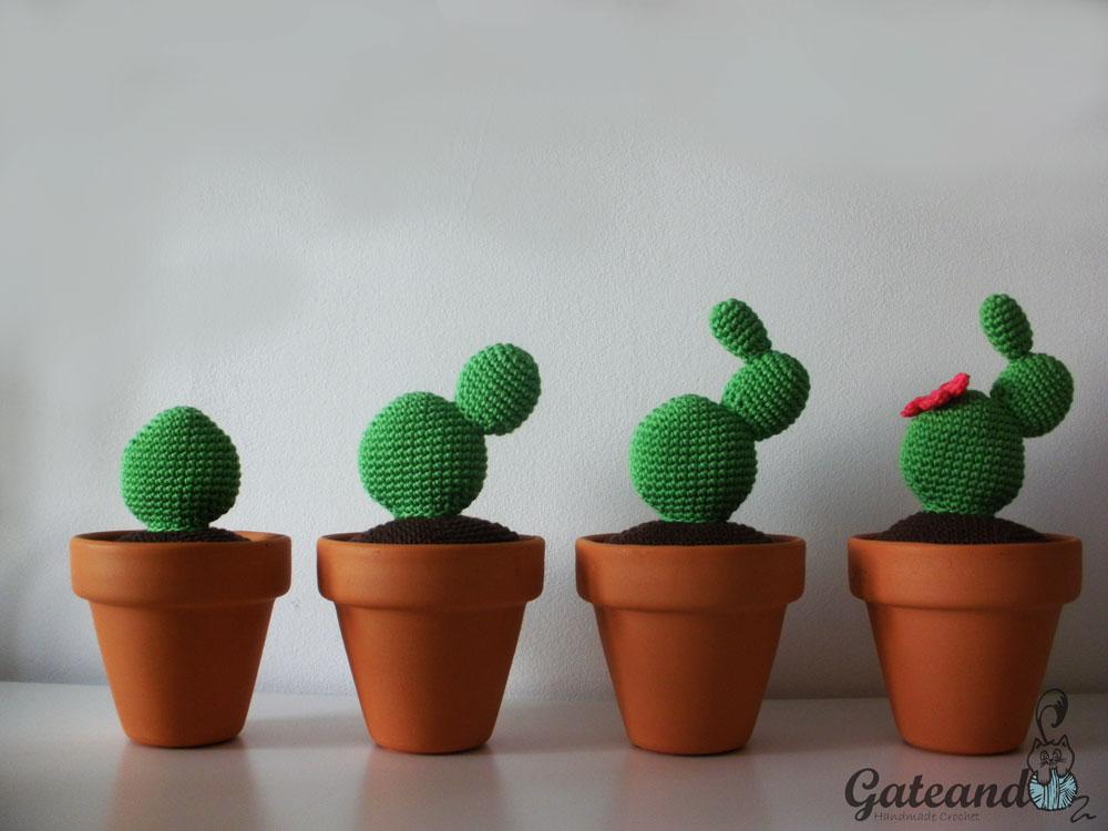 Fantástico Patrón De Crochet Cactus Foto - Patrón de Vestido de ...