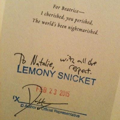 Lemony Snicket autograph