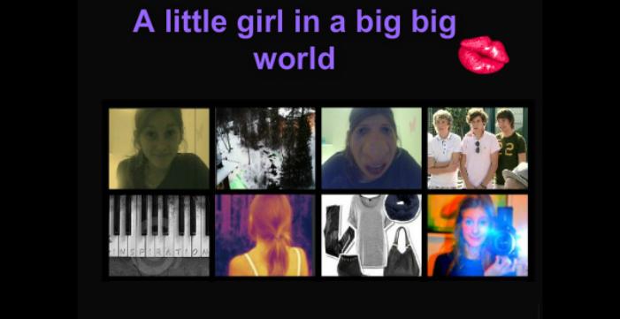 A Little Girl In A Big Big World