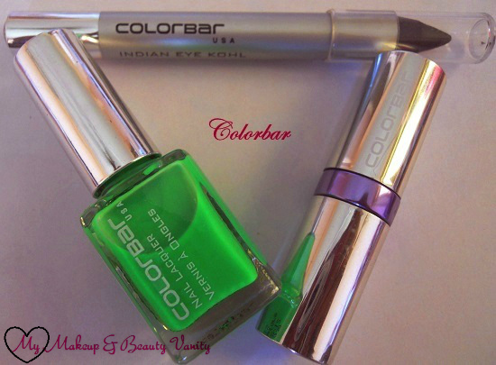 colorbar nail polish lime margarita+colorbar soft touch lipstick passionate++colorbar kohl