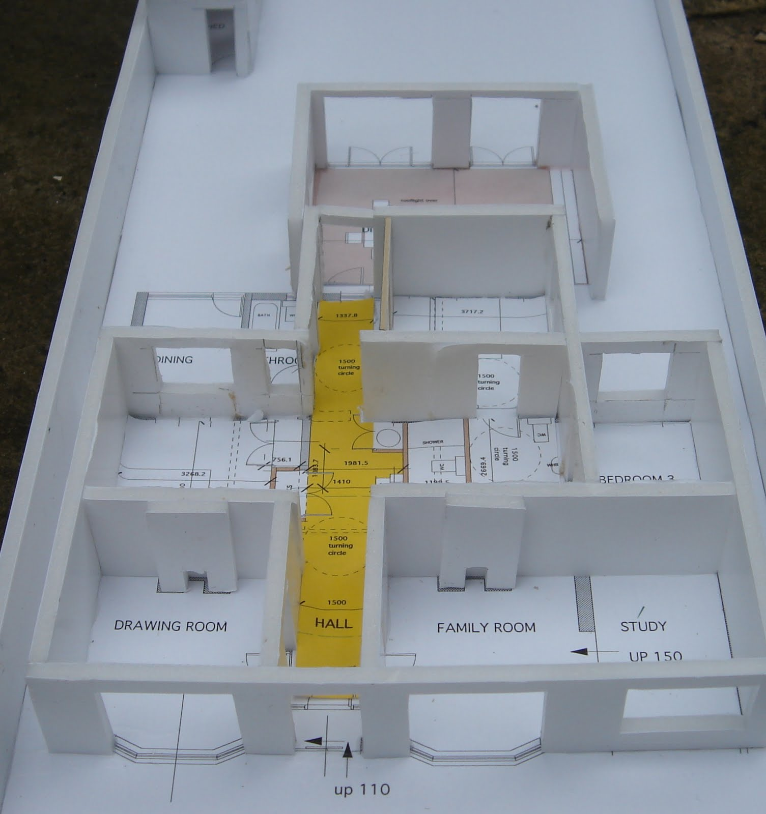 Aba architects return of the study model for Foam panel house