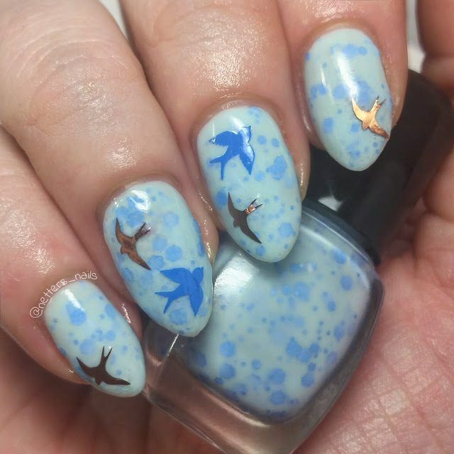 Blue sparrow nail polish blue sparrow  nail art