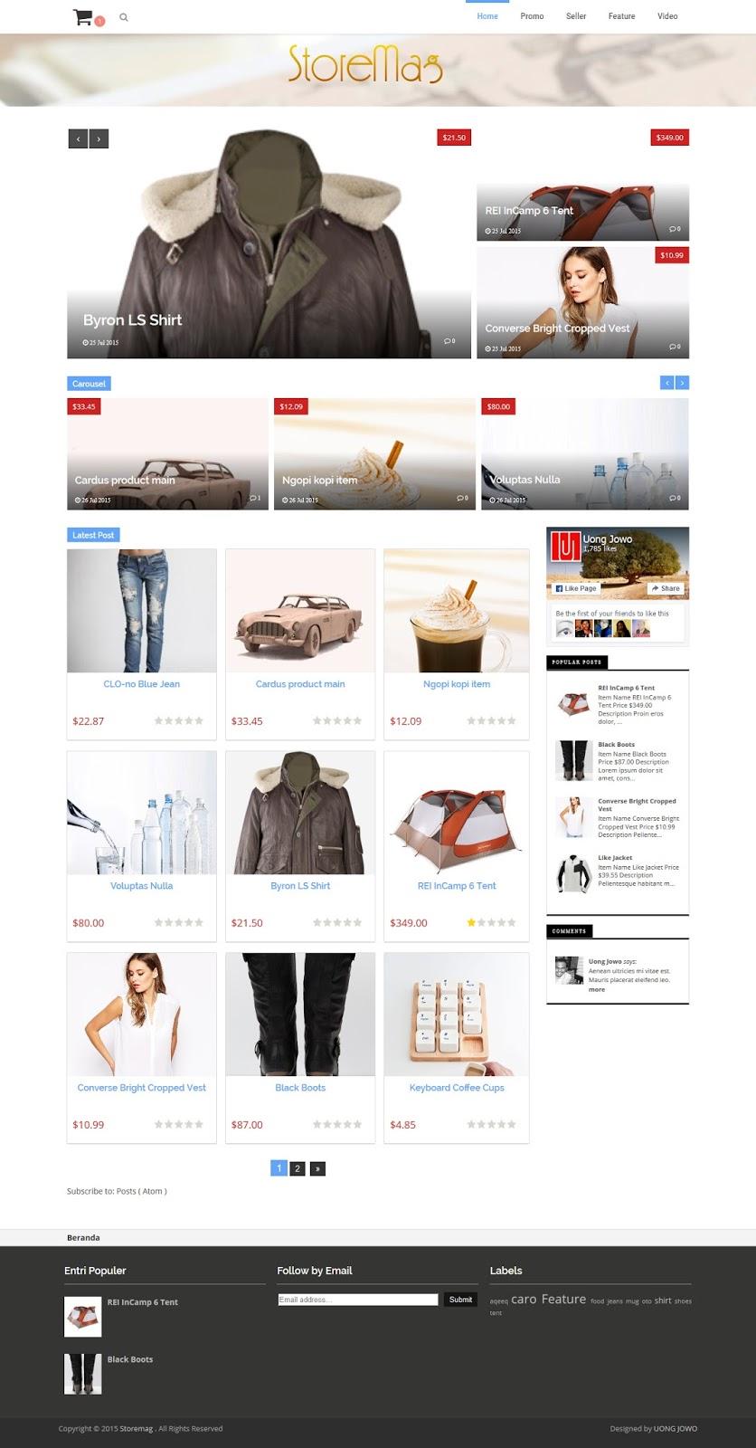 Storemag Online Shop Template Blogger Shopping Cart Best Themes