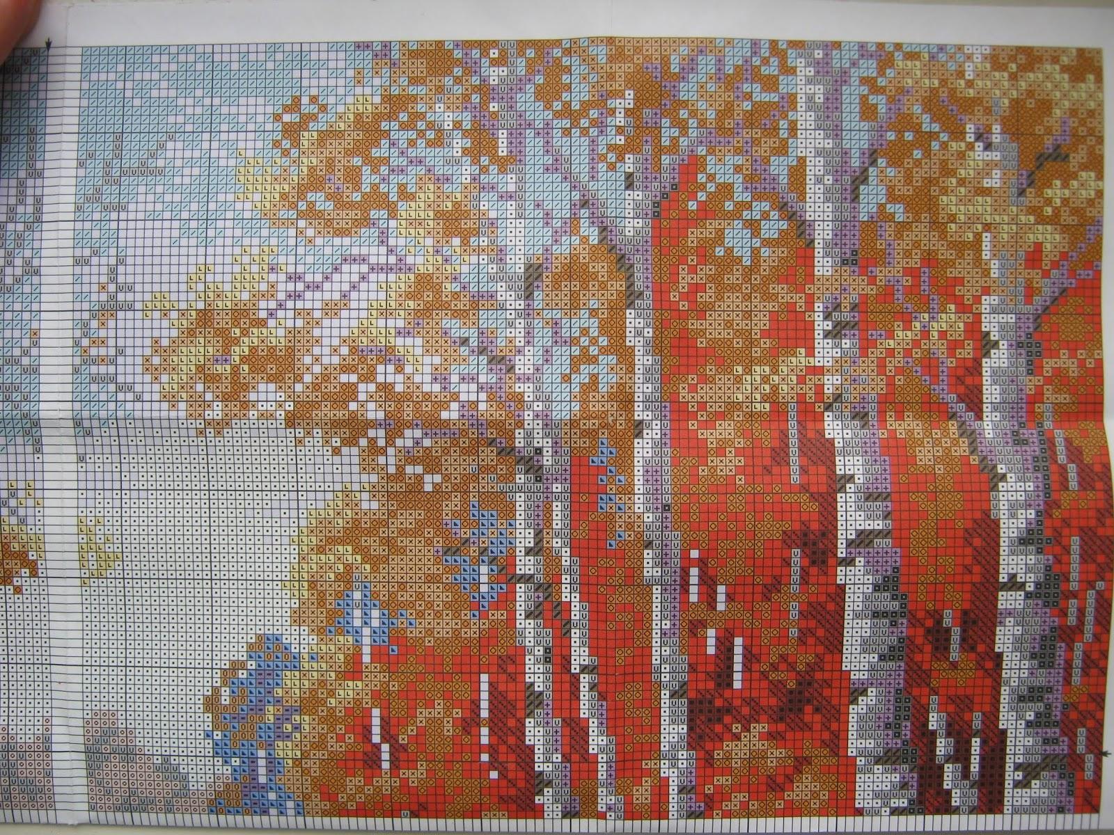 Схема вышивки риолис пейзажи 26