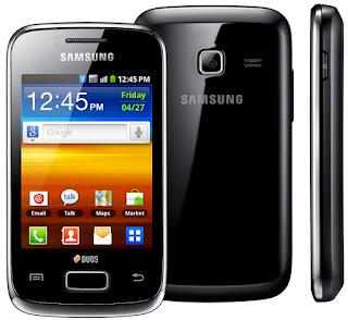 Celular Samsung Y Duos Preto , com dois chips, Wi-Fi e 3G
