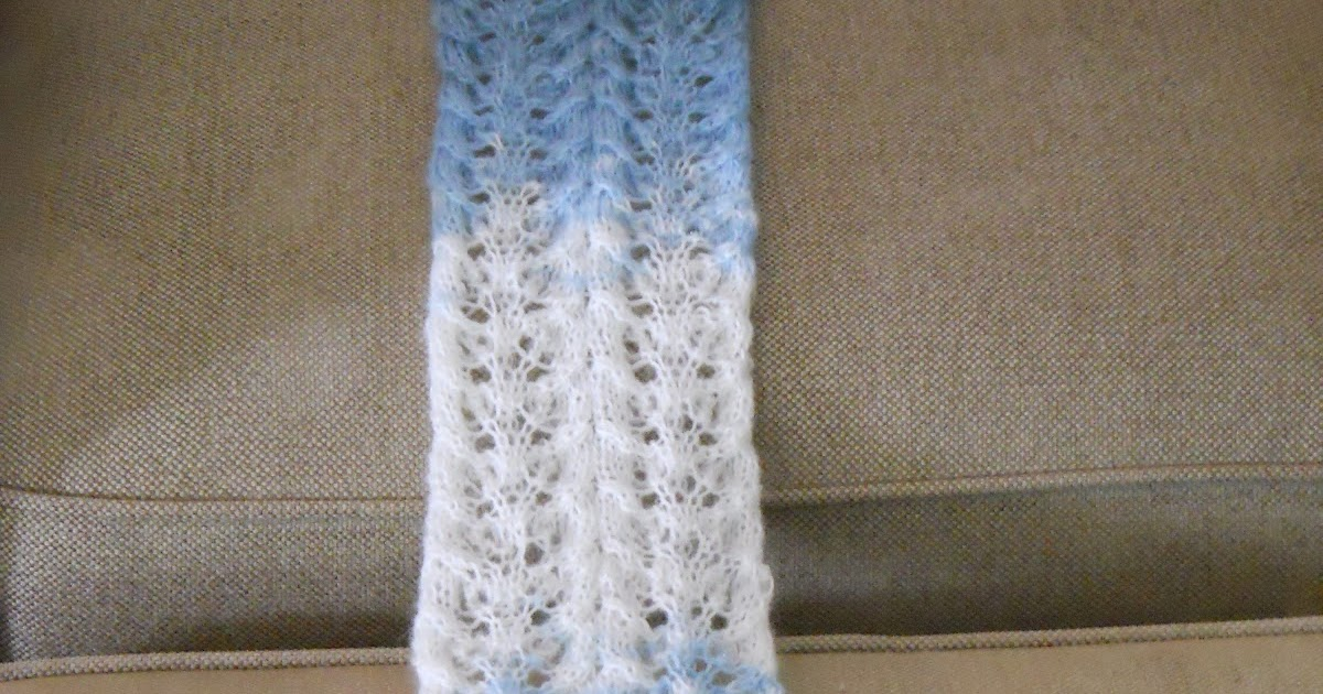Knitting Pattern Abbreviations Yo : Knitting with Schnapps: Introducing the Showers of Lace Scarf!