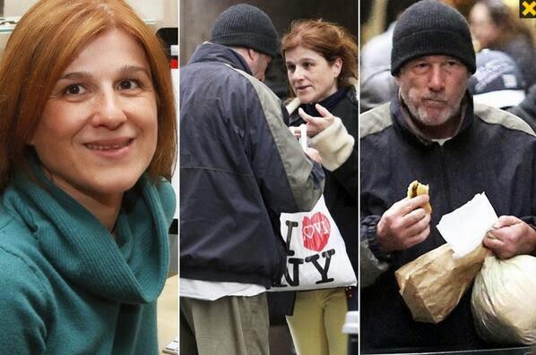 Une touriste française prend Richard Gere pour un clochard et lui offre sa pizza