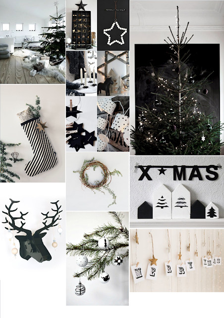 christmas, home, homewares, interiors, pintrest, mood board, style, inspiration, monochrome, nordic, christmas inspiration,