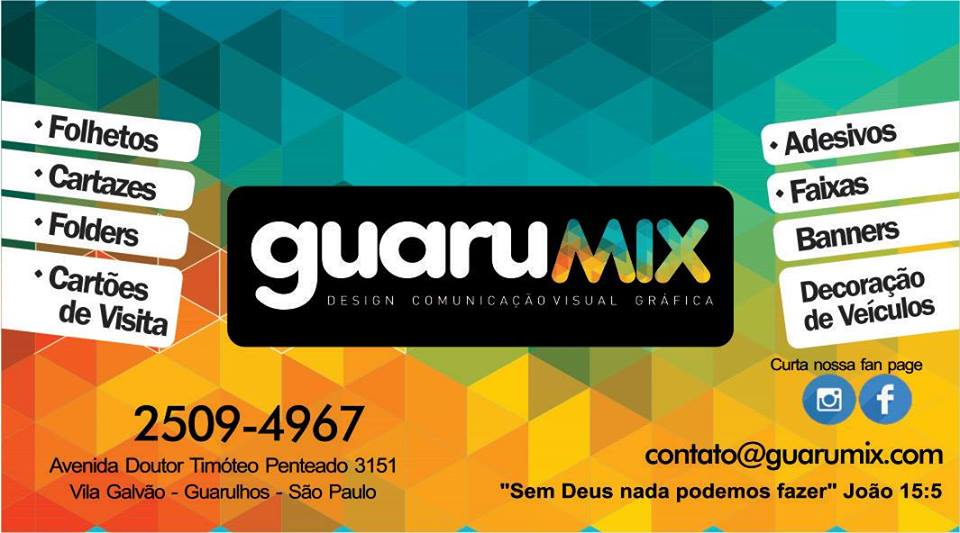 APOIO: Grafica Guarumix