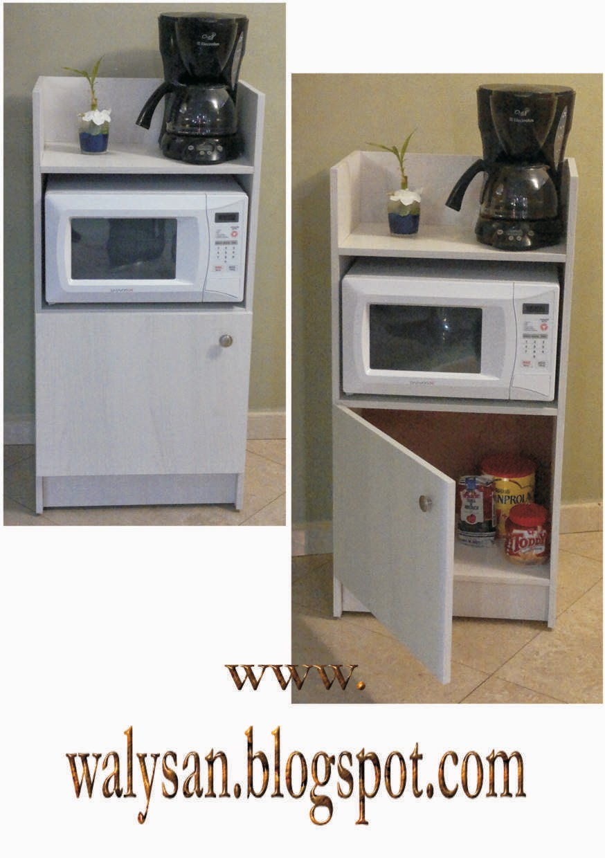 Walysan cocina con pasillo angosto y mueble de oficina Muebles de cocina para microondas