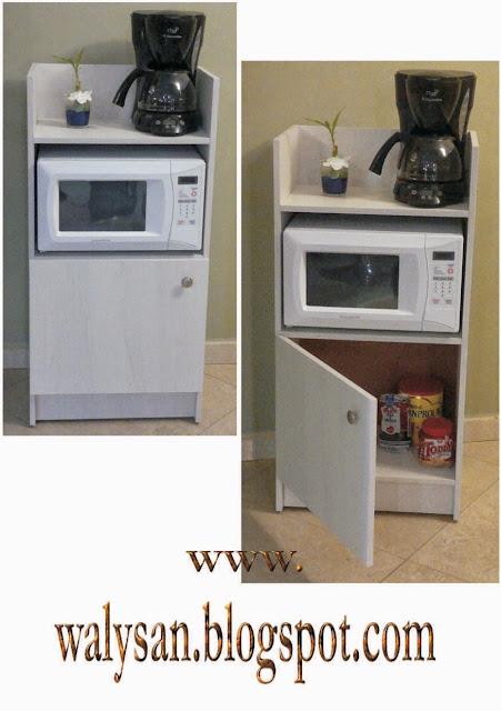 Walysan cocina con pasillo angosto y mueble de oficina for Mueble cocina microondas