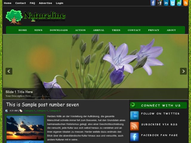 Natureline Blogger Template