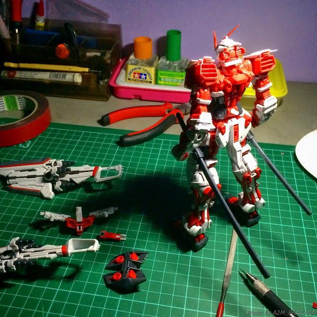 model kit bandai astray red frame work fast