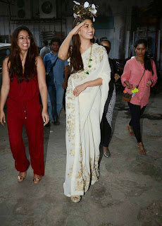 Jacqueline Fernandez Saree Stills at Sahiba Ltd Ad Shoot 2