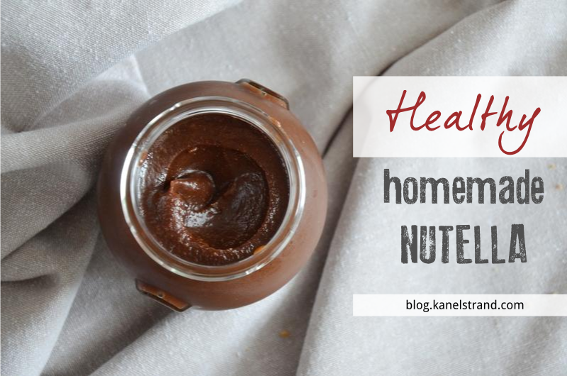 Kanelstrand: Healthy Homemade Nutella Recipe (Vegan)