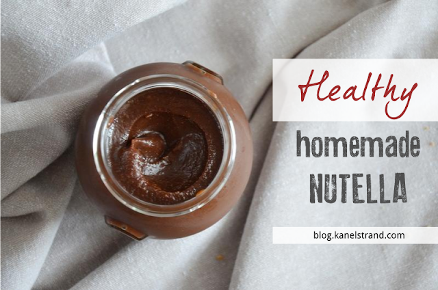 Healthy Homemade Nutella (sugarless and vegan)
