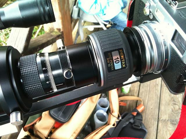 Pentax 75SDHF 望遠鏡透過XW10mm目鏡擴大