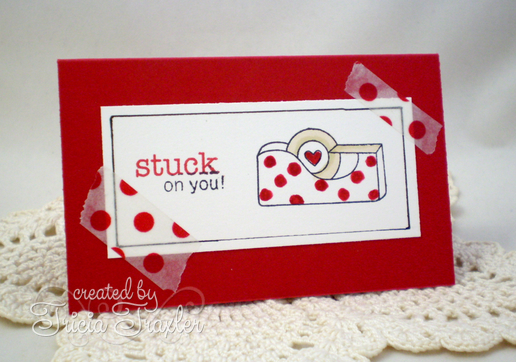 Stuck on you card by Tricia Traxler | Around the House Stamp Set | Newton's Nook Designs