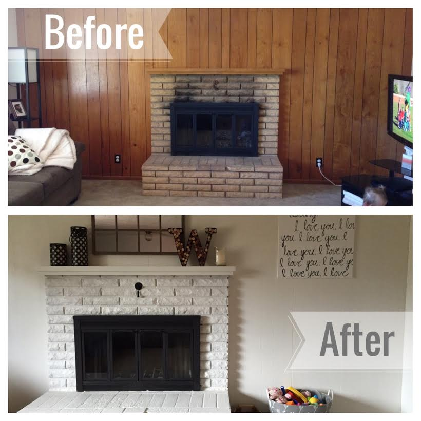 Fireplace Design high heat fireplace paint : Barbell in the Kitchen: Living Room   Before & After