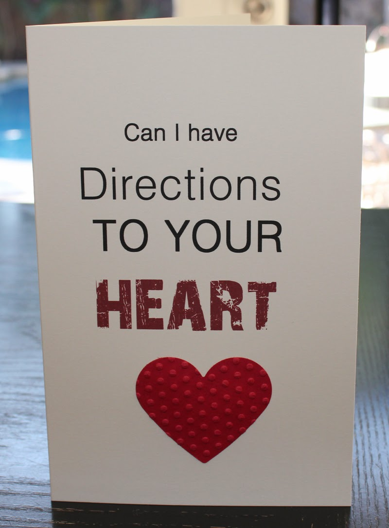 Greeting Card - Can I have Directions to Your Heart