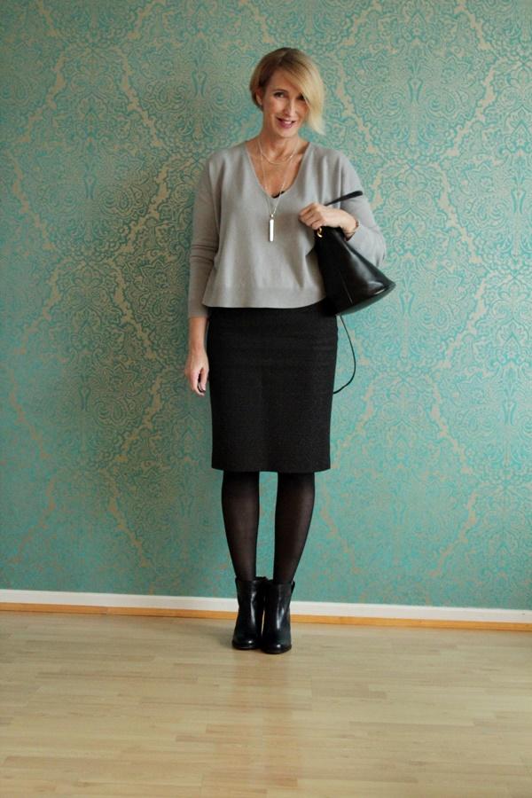 bleistiftrock mit stiefeletten glam up your lifestyle. Black Bedroom Furniture Sets. Home Design Ideas