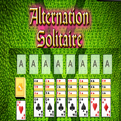 Alternation Solitaire Card Game