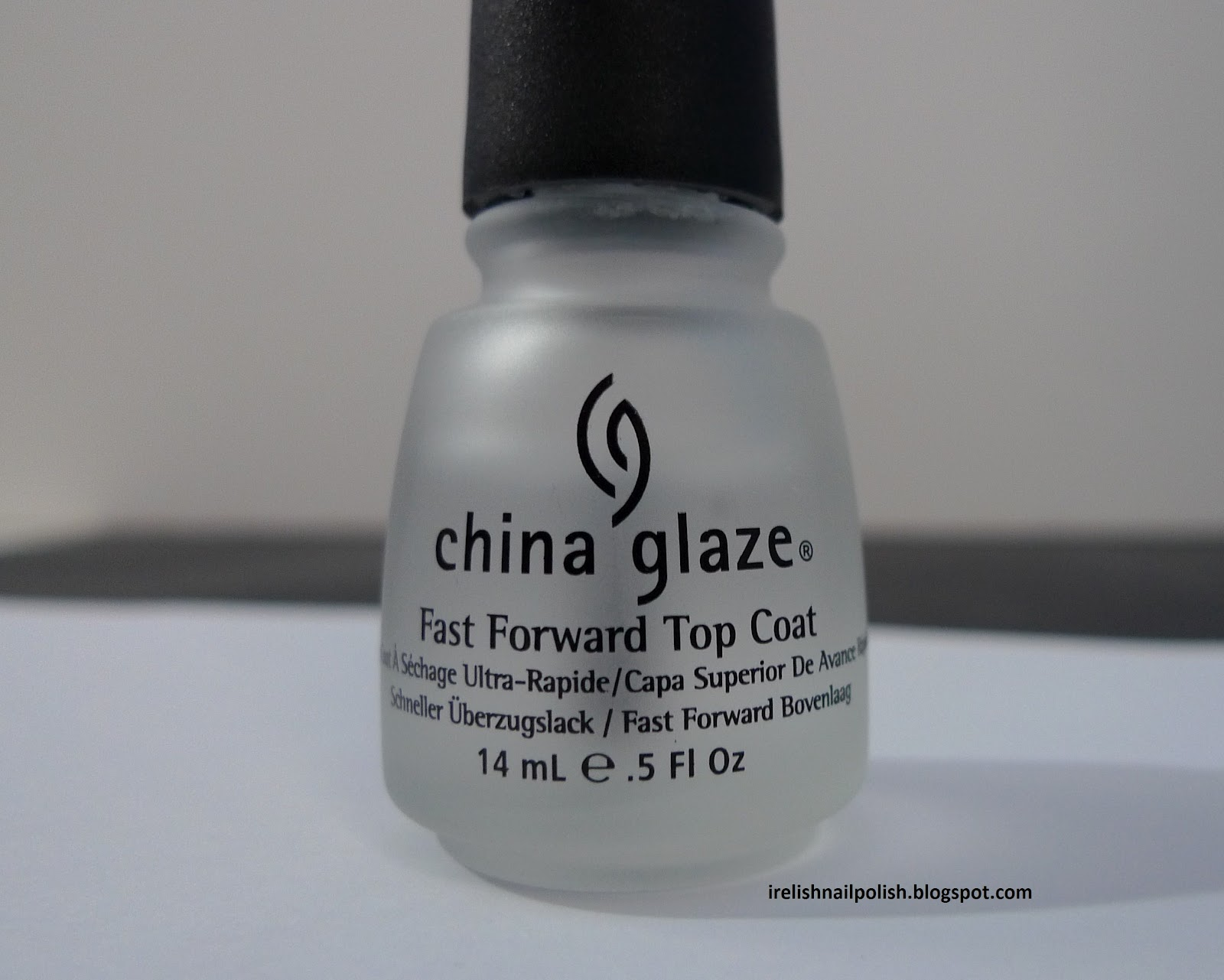Review China Glaze Fast Forward Top Coat