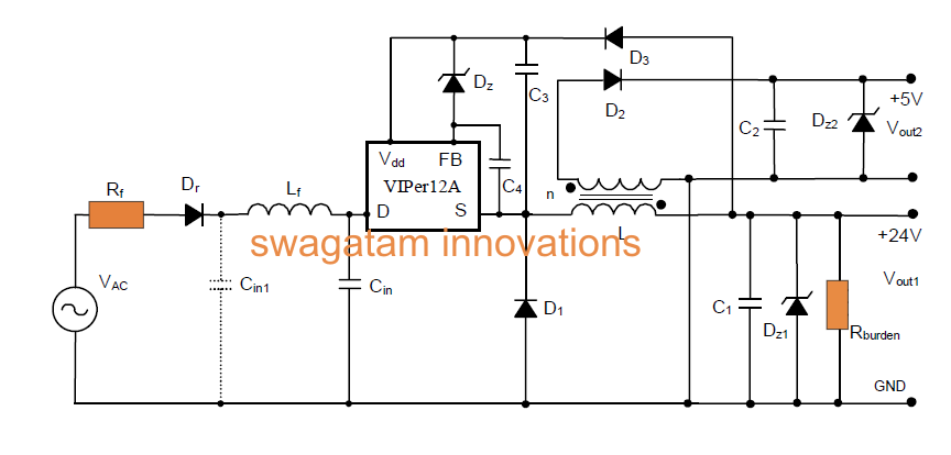 Smps simple circuit diagram