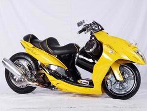 foto gambar modifikasi Yamaha Mio dan Honda Vario Punya Kesamaan