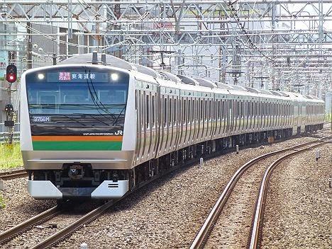 東海道線 快速アクティー E233系