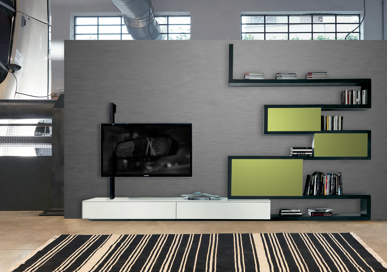 Fimar - Mobili & Idee: Side System 9 con porta tv orientabile Flag