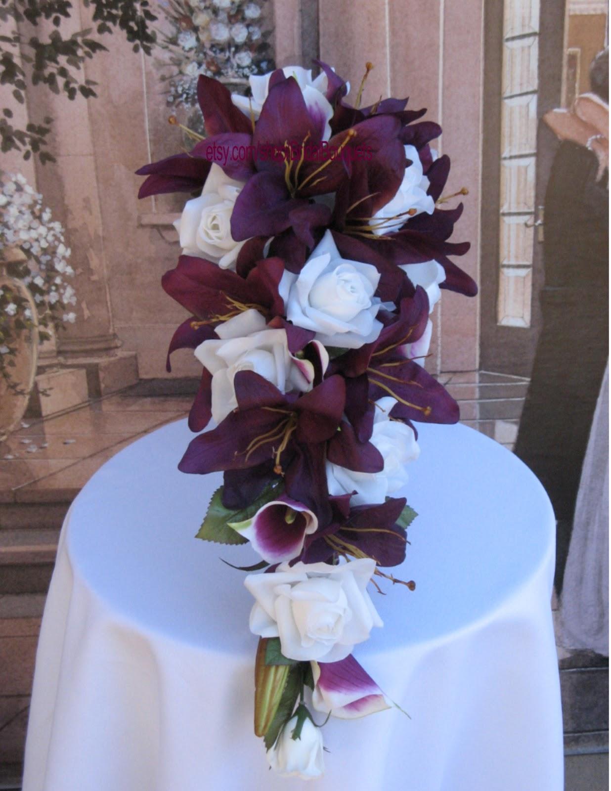 Sangria Wedding Bouquet On Etsy