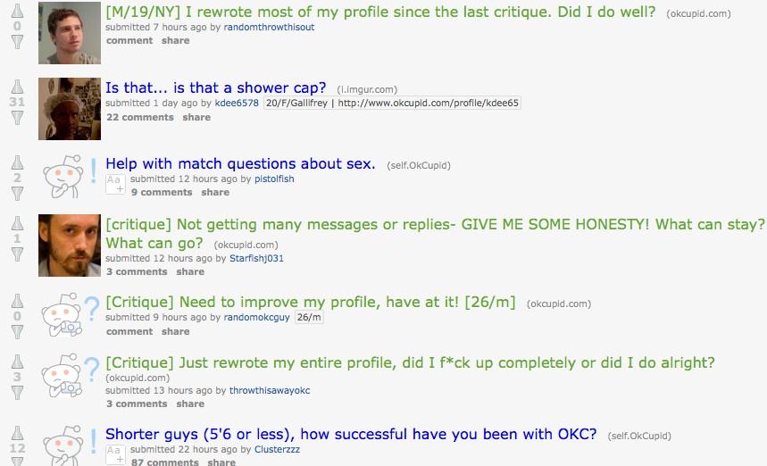 Reddit online dating profile