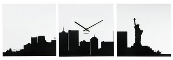 Wandklok - skyline new york - €42,95