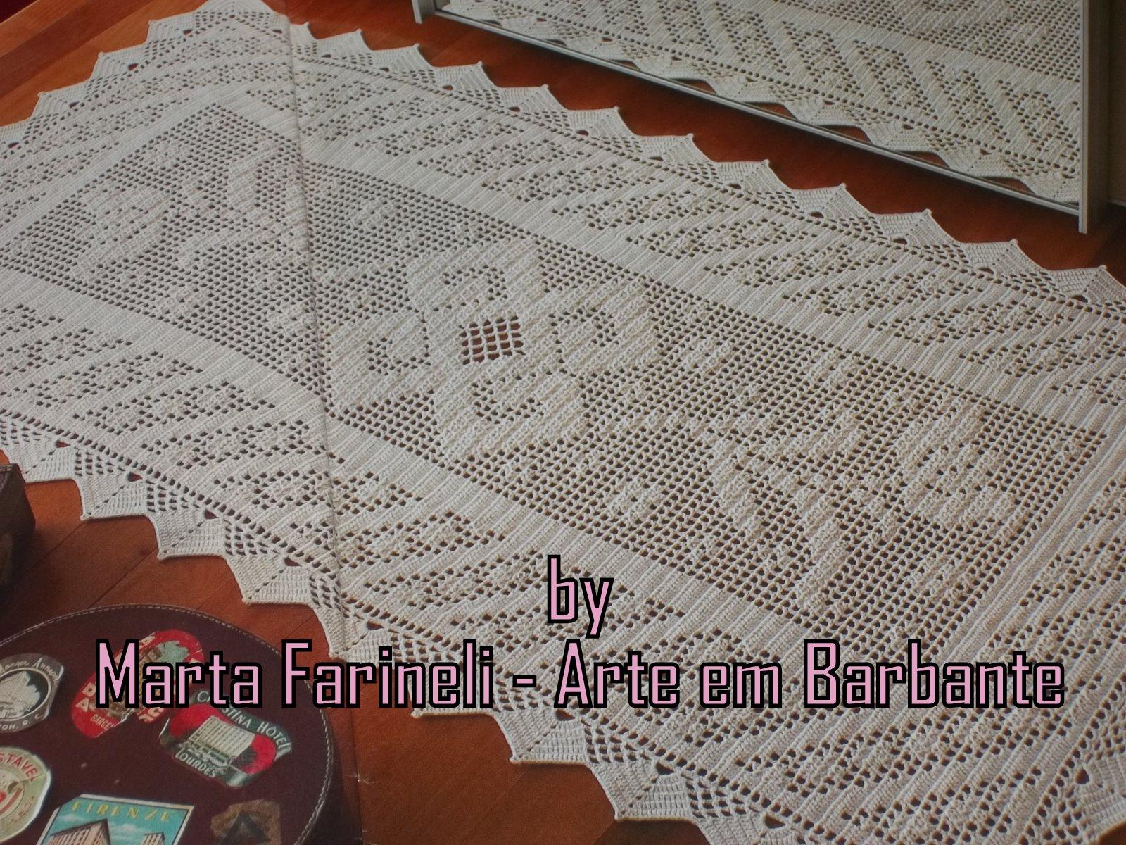 Arte Em Tapete De Barbante : Tapete De Barbante Em Croche