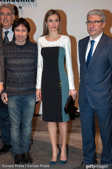 Casimiro Garcia Abadillo and Queen Letizia of Spain attend the opening of the International Contemporary Art Fair ARCO 2015 at Ifema on February 26, 2015 in Madrid, Spain
