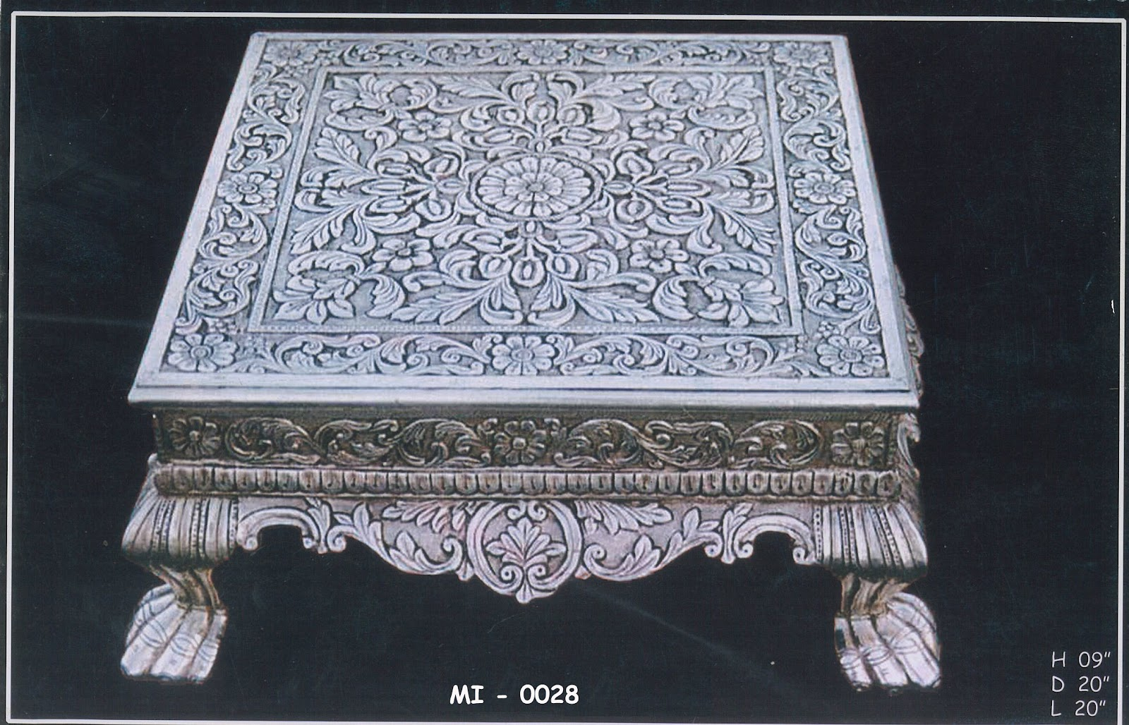 Antique Silver Wooden Furniture. Antique Silver Wooden Furniture   Indian Silver Handicraft