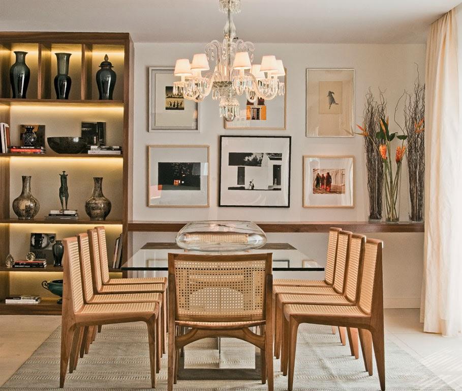 Salas de jantar 50 modelos maravilhosos e dicas de como for Modelos de sala de casa