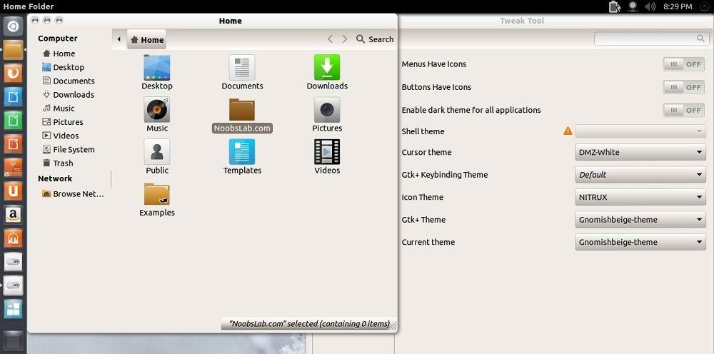 ubuntu 12.10 themes
