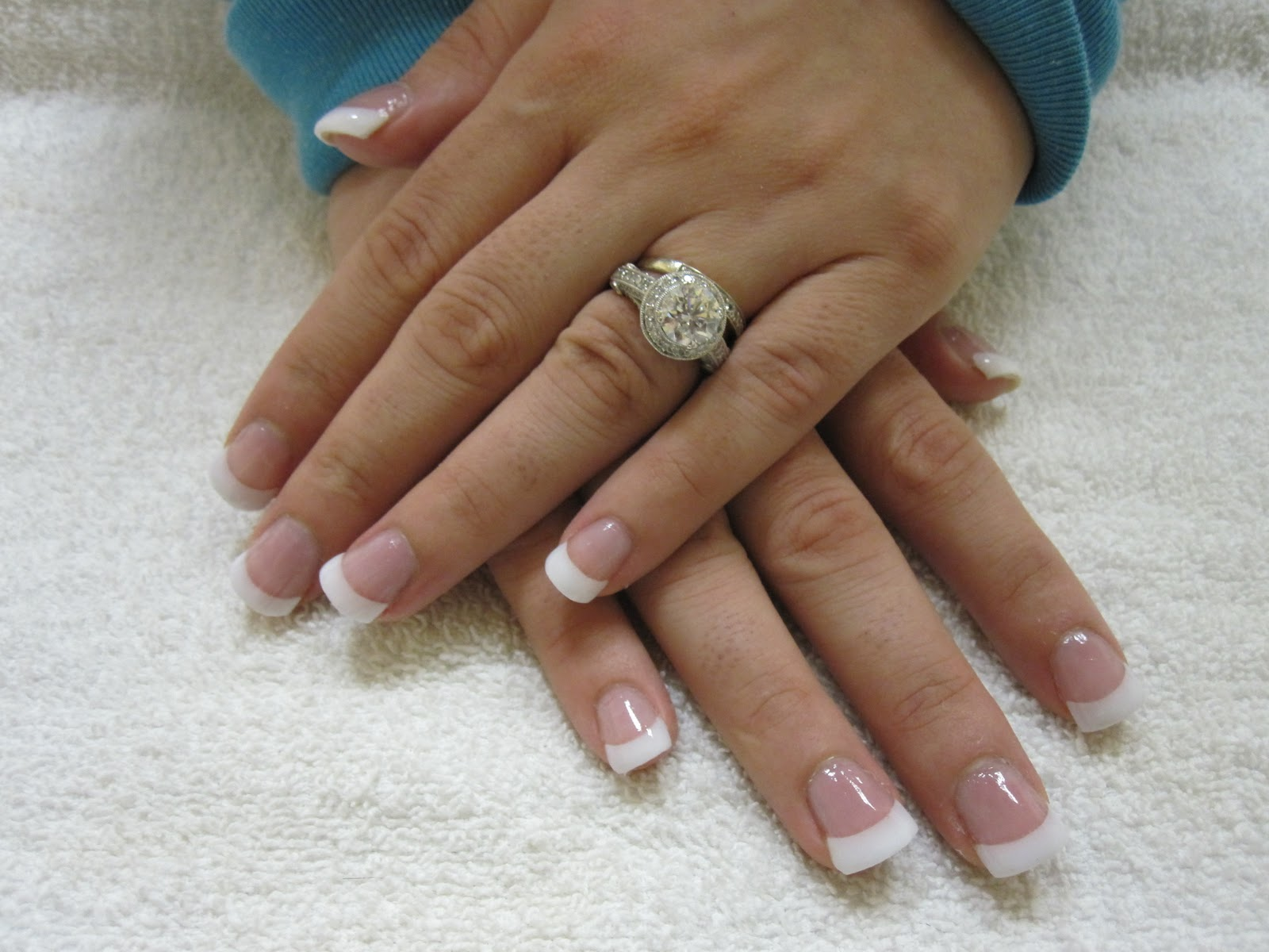 Nail Art Las Vegas: Pink and White Nails Las Vegas