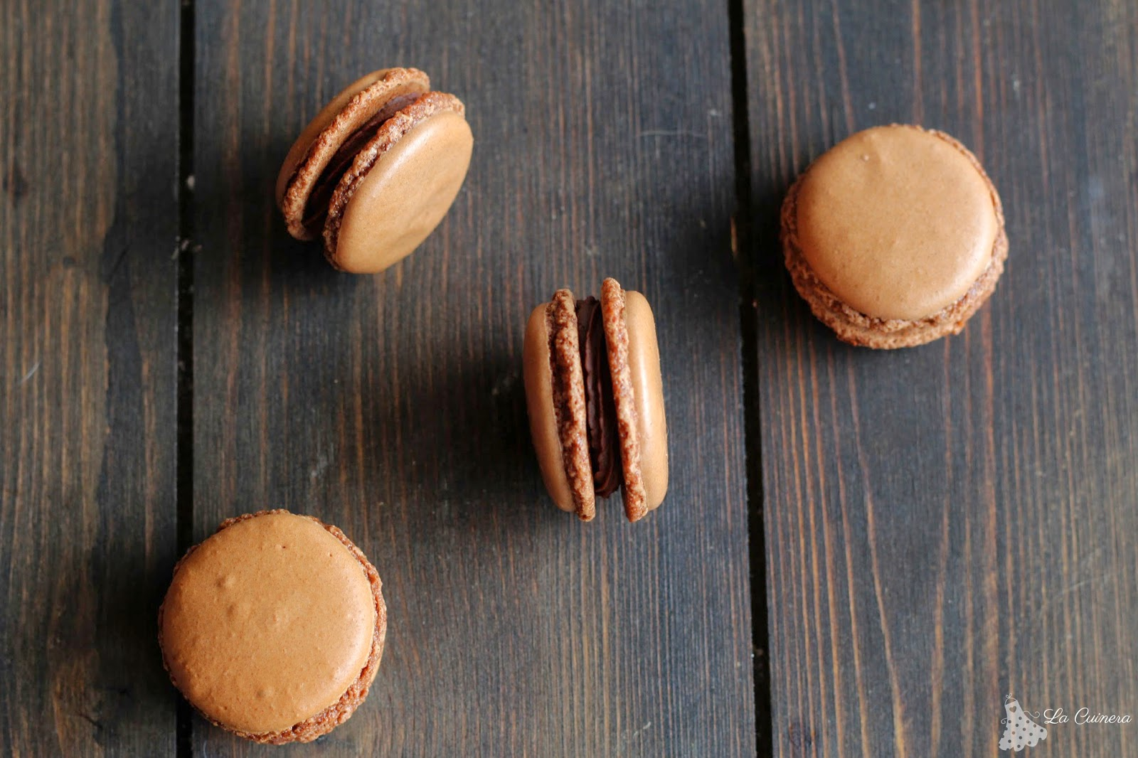 receta macaron de chocolate