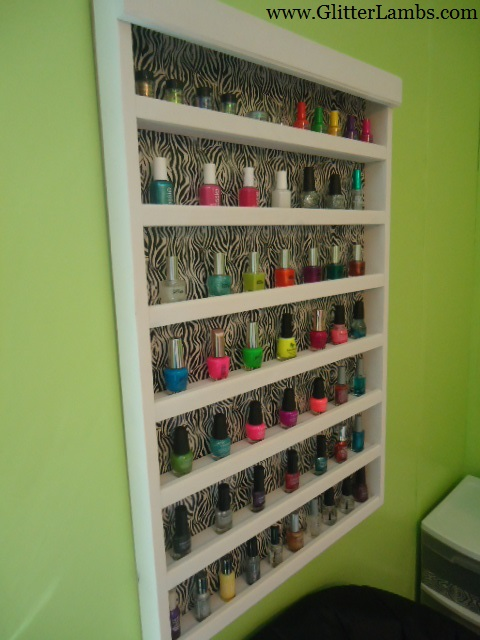 Zebra Nail Polish Rack 13