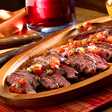 ... And Master Chef Sharon: ARGENTINIAN GRILLED STEAK WITH SALSA CRIOLLA