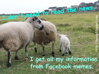 """I don't need to read the news. I get all my information from Facebook memes."""