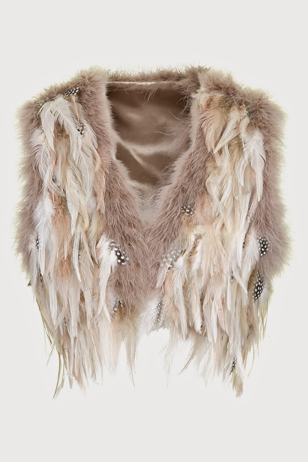 topshop feather waistcoat, feather gilet, pastel feather jacket,