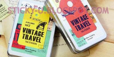008: Clarice's Vintage Travel Sticker