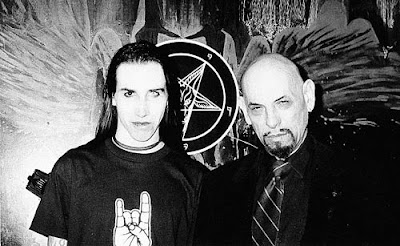 Marilyn Manson e Anton LaVey, marilyn manson, anton lavey, igreja de satã, blog mortalha, satanismo, satanista