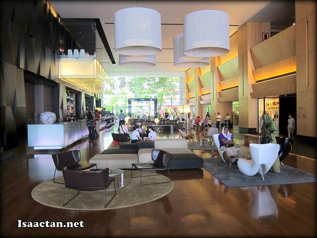 G Hotel Penang's modern looking lobby