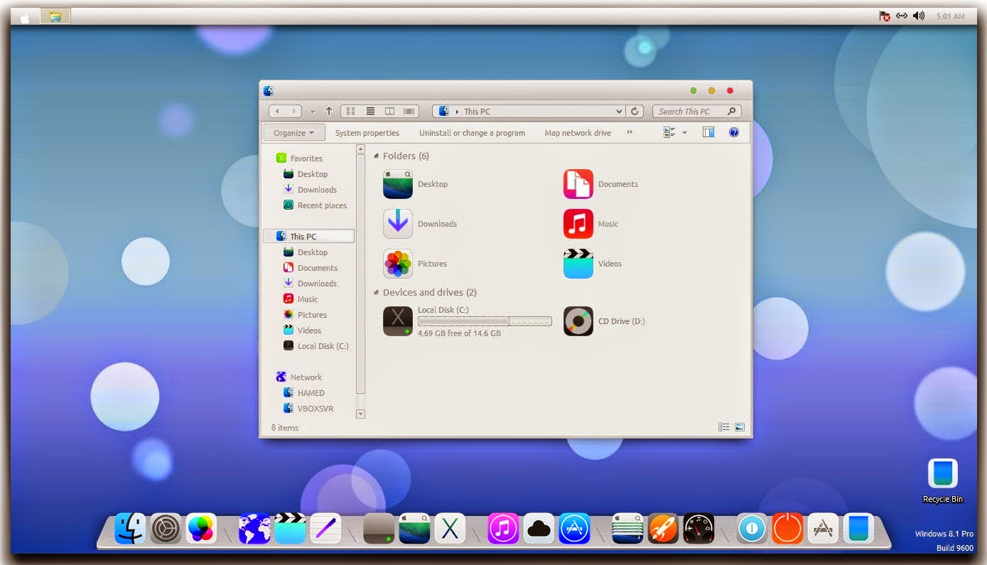Download iOS 8 Skinpack For Windows 2014